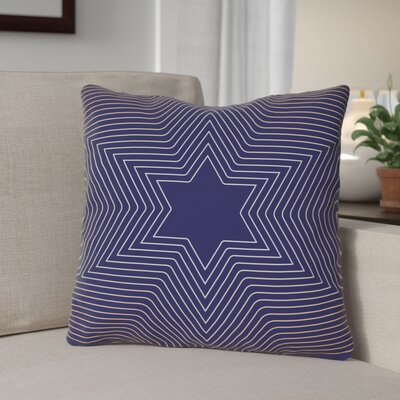 Square Star of David Throw Pillow Size: 18 x 18