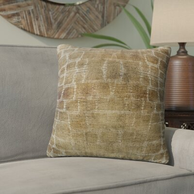 Eckhart Throw Pillow Color: Brown/Tan/Ivory, Size: 16 x 16