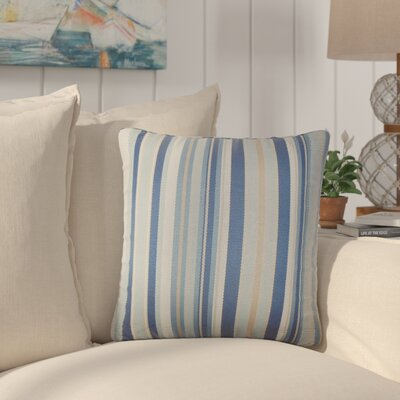 Henderson Striped Throw Pillow Color: Blue