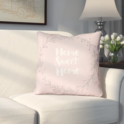 Cobleskill Outdoor Throw Pillow Size: 18 H x 18 W x 4 D, Color: Pink