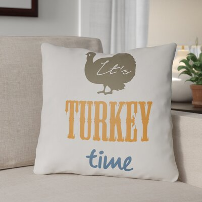 Turkey Indoor/Outdoor Throw Pillow Size: 20 H x 20 W x 4 D, Color: White/Brown/Orange/Blue