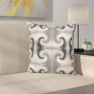 Hallucinating Spirals Square Pillow Cover Size: 18 x 18