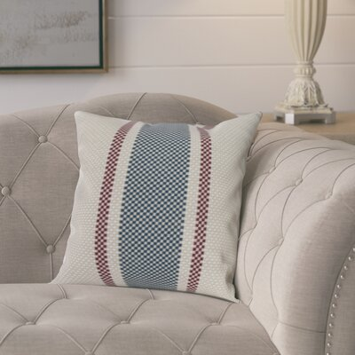 Laymon Grain Sack Throw Pillow Color: Navy Blue, Size: 16 x 16