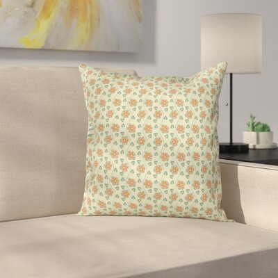 Modern Floral Pillow Cover with Zipper Size: 16 x 16