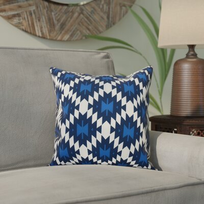 Willa Jodhpur Kilim Geometric Print Throw Pillow Size: 20 H x 20 W, Color: Navy Blue