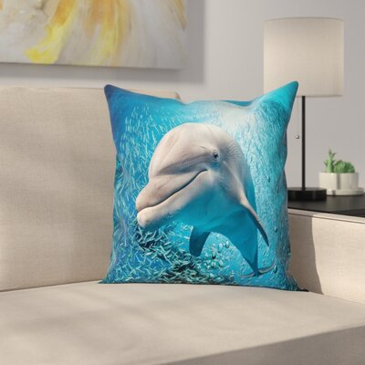 Fish Dolphin Square Pillow Cover Size: 20 x 20