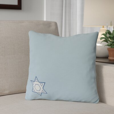 Stars Corner Throw Pillow Size: 16 H x 16 W, Color: Light Blue