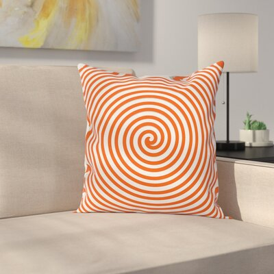 Spiral Concentrate Line Square Pillow Cover Size: 18