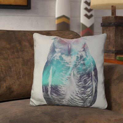 Letendre Owl in the Aurora Borealis Throw Pillow