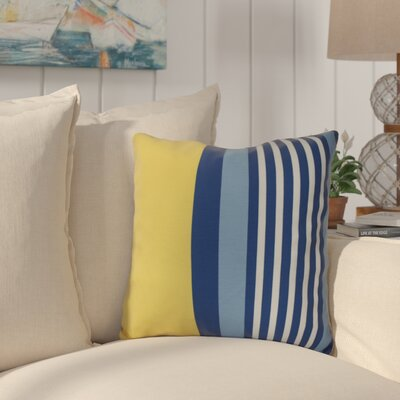 Bartow Beach Shack Throw Pillow Size: 18 H x 18 W x 3 D, Color: Yellow/Blue