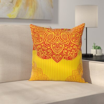 Traditional Design Square Pillow Cover Size: 24 x 24