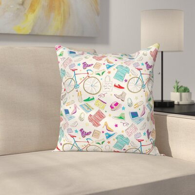 Urban Hipster Accessories Square Cushion Pillow Cover Size: 18 x 18