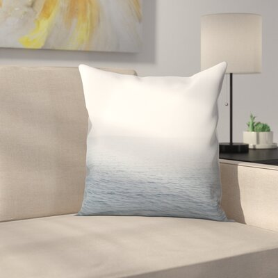 Luke Gram Snow on the Lake Throw Pillow Size: 14 x 14