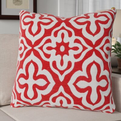 Silpa Throw Pillow Color: Red