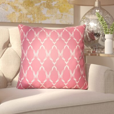 Bonaway Indoor/Outdoor Throw Pillow Size: 18 H x 18 W x 3.5 D, Color: Red