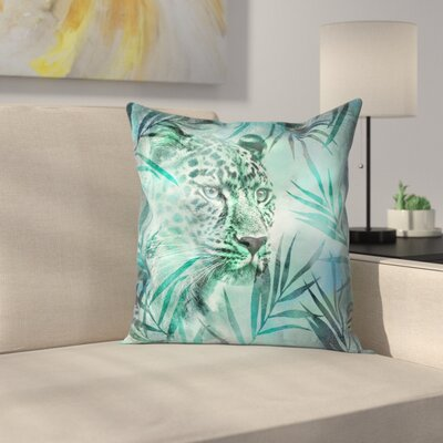 Gepard Throw Pillow Size: 14 x 14, Color: Green
