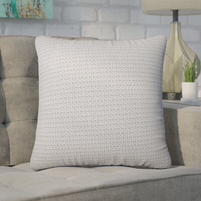 Wojciechowski Plaid Cotton Throw Pillow Color: Gray