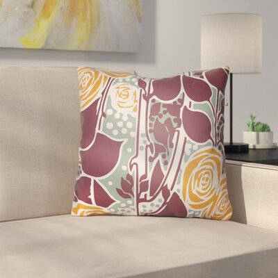 Capron Throw Pillow Size: 18 H x 18 W x 4 D, Color: Burgundy/Orange/Seafoam