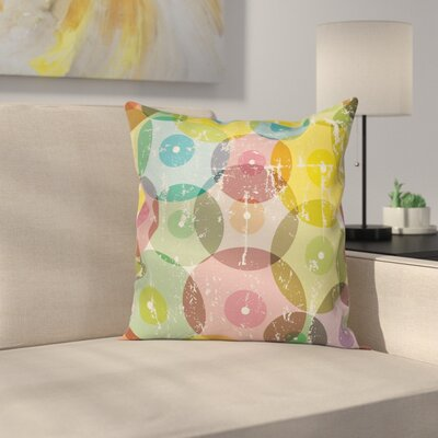 Colorful Circles Pillow Cover Size: 16 x 16
