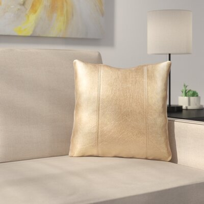 Serrano Throw Pillow Size: 16 H x 16 W x 4 D, Color: Gold