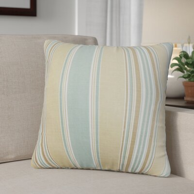 Ashprington Stripes Throw Pillow Color: Sure, Size: 22 x 22
