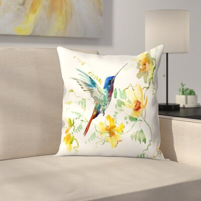 Suren Nersisyan Hummingbird 2 Throw Pillow Size: 18 x 18