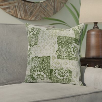 Drumack Patches Throw Pillow Color: Green, Size: 16 x 16