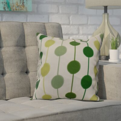 Leal Brady Beads Throw Pillow Size: 26 H x 26 W, Color: Green