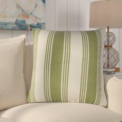 Douglasville Cotton Throw Pillow Size: 22 H x 22 W x 4 D, Color: Olive/Ivory
