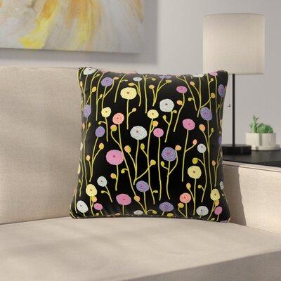 Laura Nicholson Ranunculas Floral Outdoor Throw Pillow Size: 18 H x 18 W x 5 D