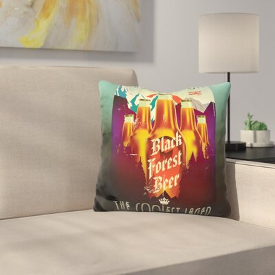Forest Beer Throw Pillow