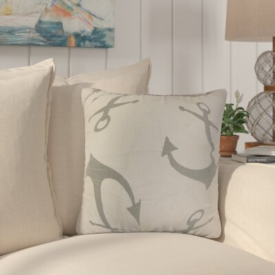 Willen Coastal Cotton Throw Pillow Color: Ash