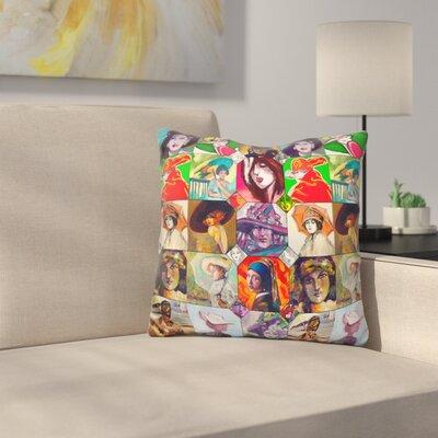 Ladies Collage Throw Pillow