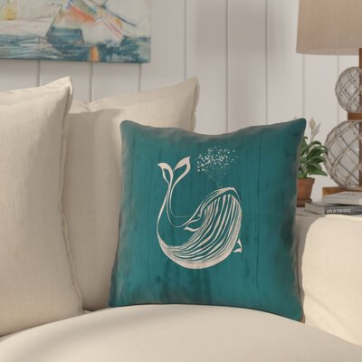 Lauryn Rustic Whale Throw Pillow Size: 16 x 16