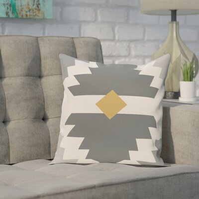 Avian Geometric Print Throw Pillow Size: 20 H x 20 W, Color: Gray