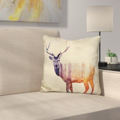 Deer I Throw Pillow