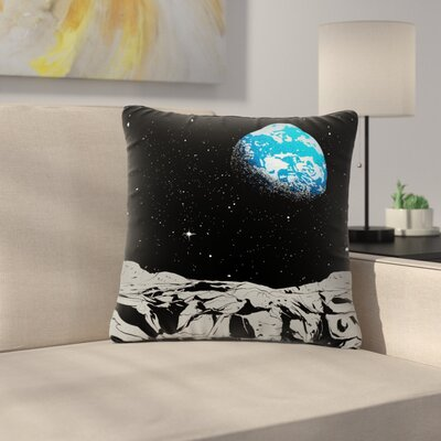 Digital Carbine From the Moon Geological Outdoor Throw Pillow Size: 18 H x 18 W x 5 D