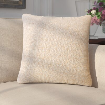Merlyn Solid Throw Pillow Color: Orange