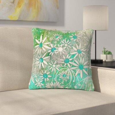 Marianna Tankelevich Night Outdoor Throw Pillow Size: 16 H x 16 W x 5 D, Color: Green/White