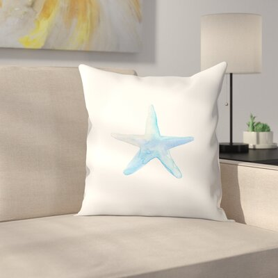 Jetty Printables Watercolor Starfish Throw Pillow Size: 14 x 14
