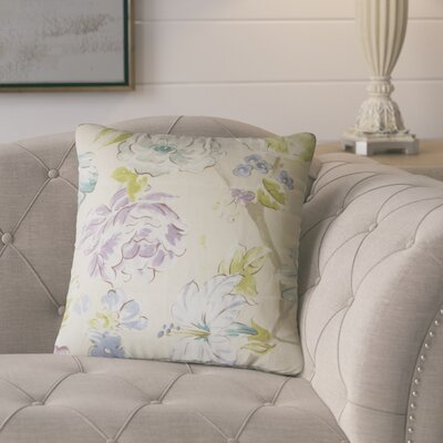 Barney Floral Throw Pillow Color: Blue/Green