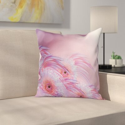 Digital Flowers Pillow Cover Size: 16 x 16