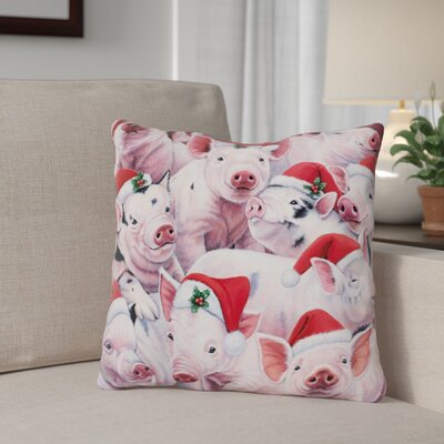 Berkey Christmas Cuties Throw Pillow Color: Red/White