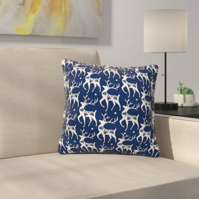 Heather Dutton Dashing Through the Snow Deer Throw Pillow Size: 18 x 18