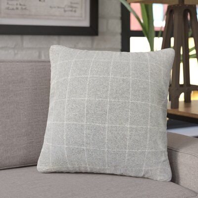 Janvier Plaid Throw Pillow Color: Gray
