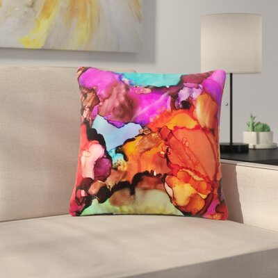 Abstract Anarchy Design Caldera #3 Outdoor Throw Pillow Size: 16 H x 16 W x 5 D