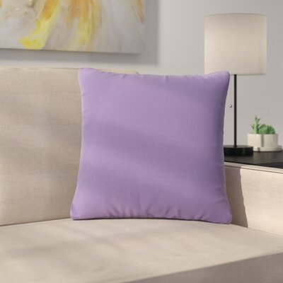 Maynor Square Indoor/Outdoor Throw Pillow Color: Purple Lavender