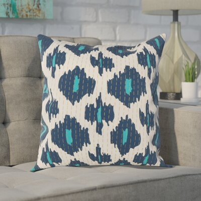 Filipina 100% Cotton Throw Pillow Cover Size: 18 H x 18 W x 1 D, Color: Blue
