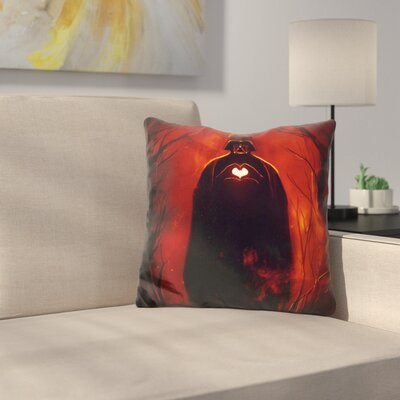 Heart Vader Throw Pillow
