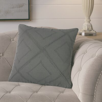Kingsburg Decorative 100% Cotton Throw Pillow Color: Charcoal/Gray